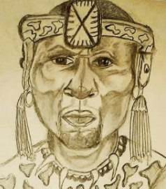 African Warrior Hand Sketched By @NikitaSkyDraws