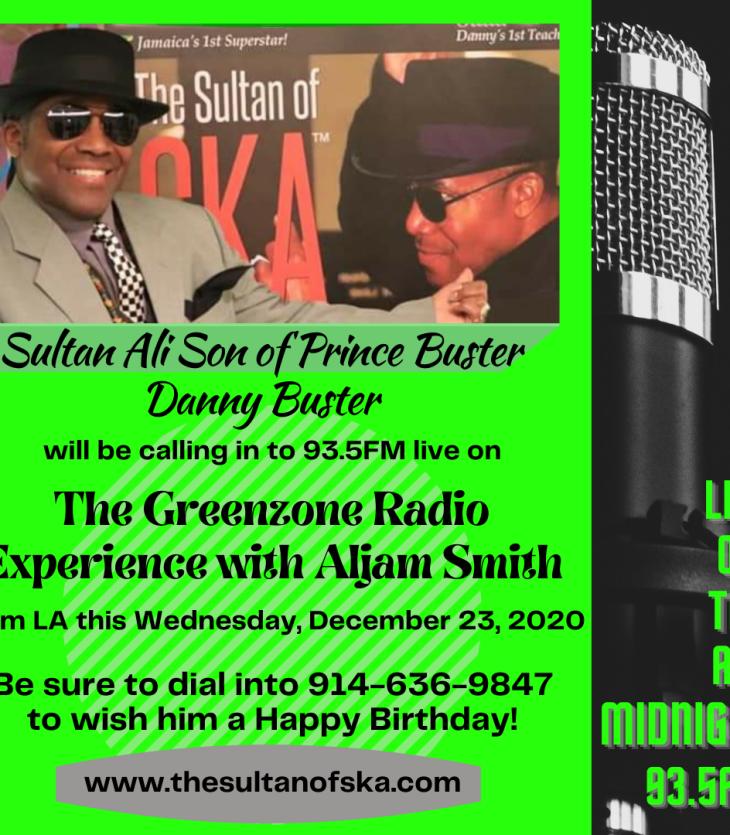 Sultan Ali Son of Prince Buster radio flyer