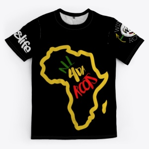Locs is Life All Over Print Unisex Tee Front - Black