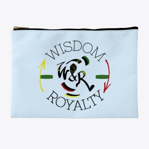 Wisdom and Royalty Accessory Pouch - Light Blue
