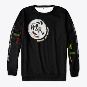 Wisdom and Royalty All Over Print Long Sleeve Shirt - Black